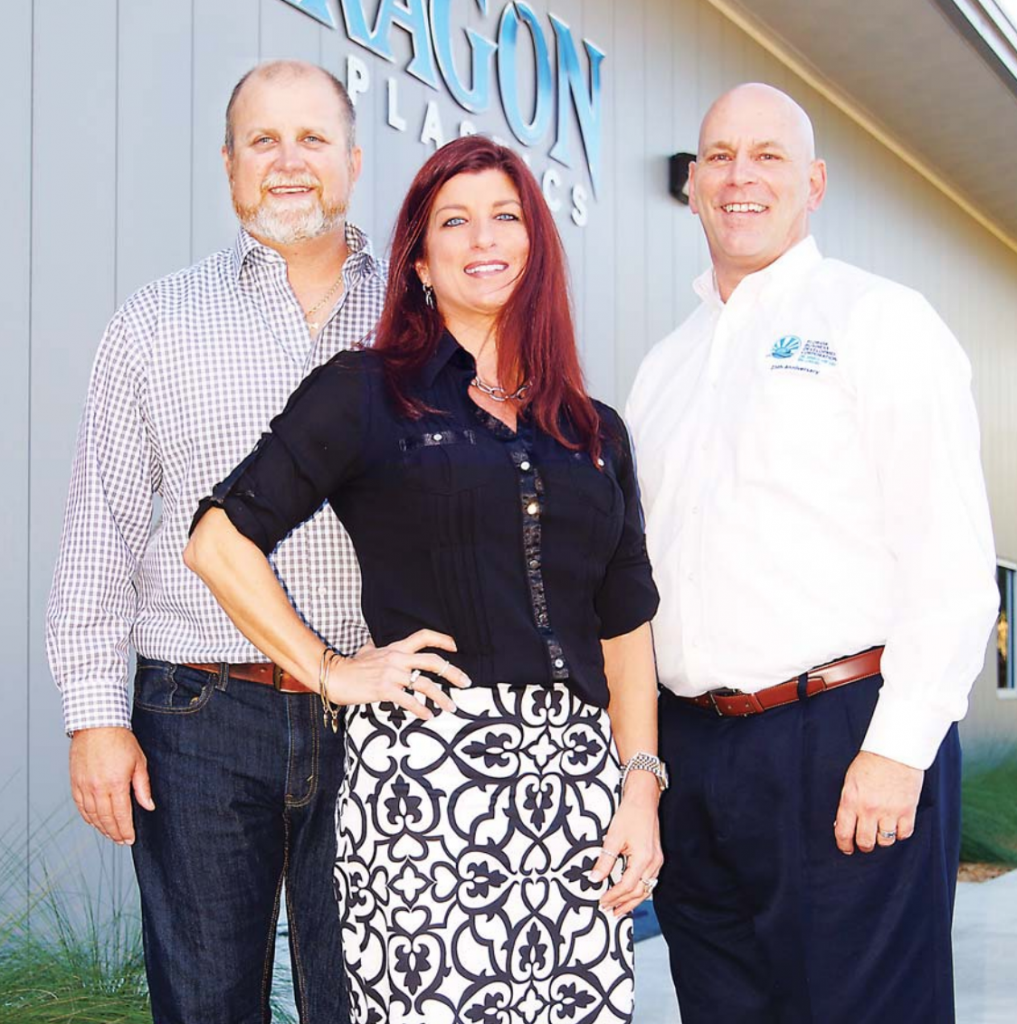 From left: Trout; Valia Rich, Regions Bank; and Tim Cramer, Florida Business Development Corp